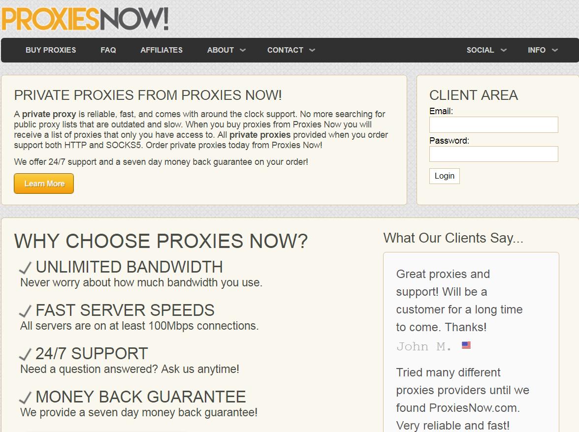 proxies now